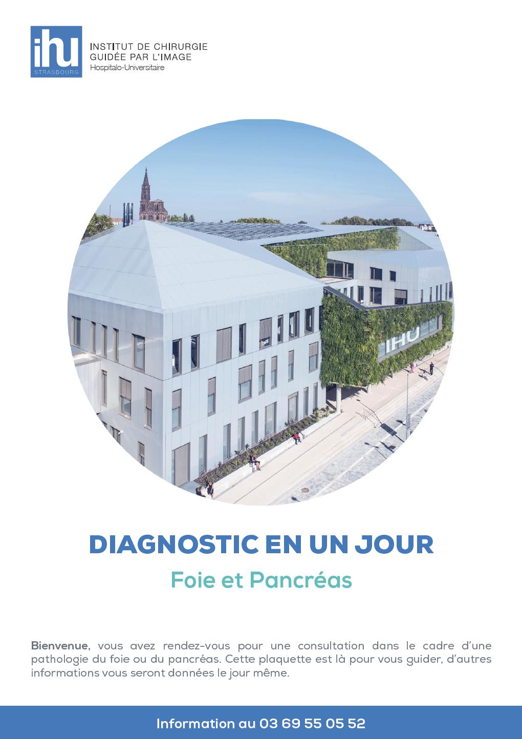 Télécharger la brochure du diagnostic en 1 jour - Foie et Pancréas